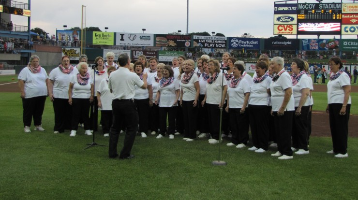 singing at pawsox with hh
